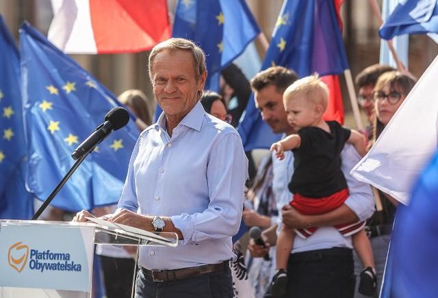 Wiec Donalda Tuska w Gdańsku, 19.07.2021 r.