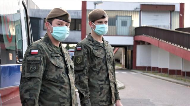 Żołnierze WOT w Szpitalu Specjalistycznym w Kościerzynie