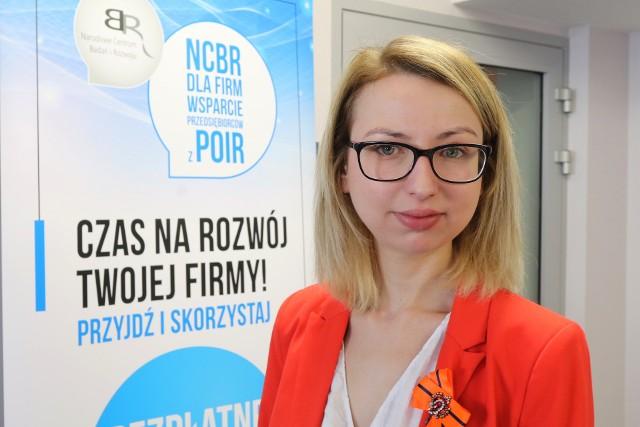 Monika Ciślak, główny specjalista działu komunikacji i promocji w Narodowym Centrum Badań i Rozwoju.