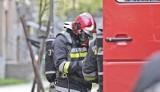 Pożar i eksplozja w Kościerzynie 11.02.2021. 22-letni mężczyzna został ranny