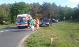 Wypadek na drodze Słońsk – Kostrzyn. Jedna osoba poszkodowana [ZDJĘCIA CZYTELNIKA]