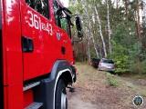 Piasutno Żelazne. Wypadek w gminie Zbójna. Kobieta uderzyła w drzewo (zdjęcia)