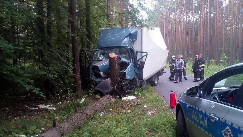 Wypadek na drodze Kolonia Łomnicka - Klekotna.