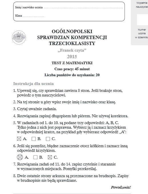 konkurs języka francuskiego gimnazjum testy