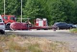 Śmigłowiec spadł chwilę po starcie. Wypadek lotniczy w Ułężu koło Dęblina. Jedna osoba poszkodowana