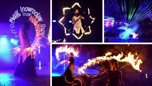 Sporo się działo w sobotni wieczór na Rynku w Inowrocławiu. Po raz drugi zorganizowano tutaj Fireshow. Były pokazy laserowe, płomienny koncert skrzypcowy, laserowa harfa i ogniste spektakle teatralne.