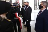 Andrzej Duda w Bytomiu. Prezydent RP uroczyście otworzył nową strażnicę Państwowej Straży Pożarnej