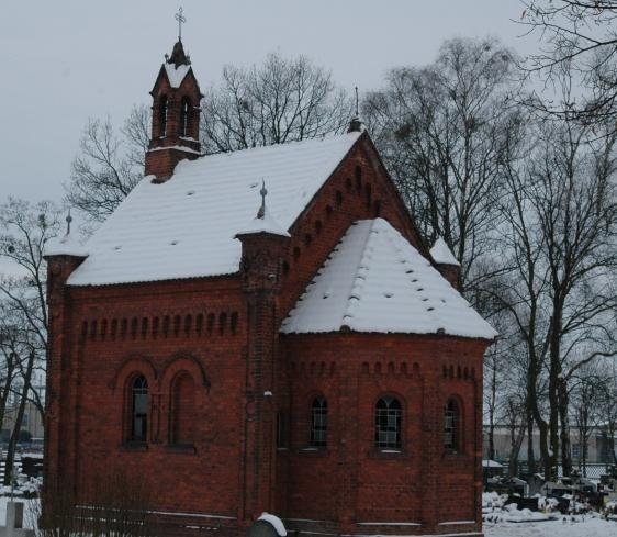 Neogotycka kaplica pochodzi z 1880 roku.