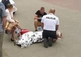 Policjant i strażak ratowali dwie piesze po wypadku ZDJĘCIA