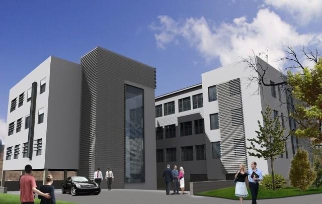 Tak będzie wyglądać siedziba Banku Spółdzielczego w Kielcach po rozbudowie