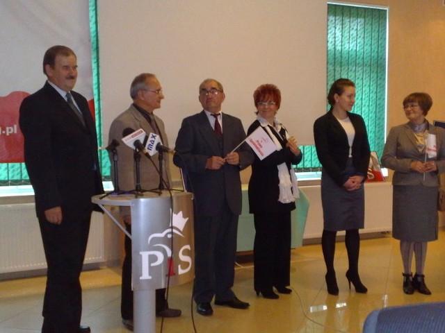 Konferencja PiS w motelu Trawa pod Koszalinem.