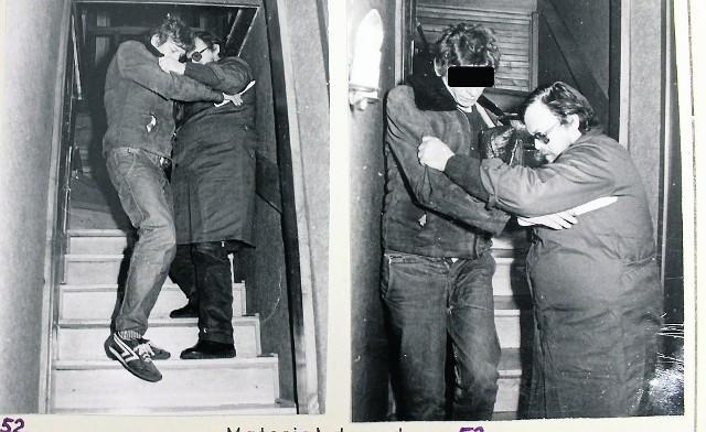 Ryszard B. podczas wizji lokalnej na miejscu zbrodni