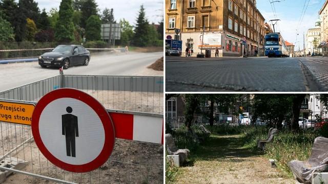Przerwa na budowie ul. Łokietka trwa już 8 miesięcy. Z tylomiesięcznym opóźnieniem oddano do użytku ul. Krakowską, ale jeszcze przed tym pojawiły się usterki do poprawki. Budowa na placu Biskupim jest rozgrzebana od końca 2020 r.