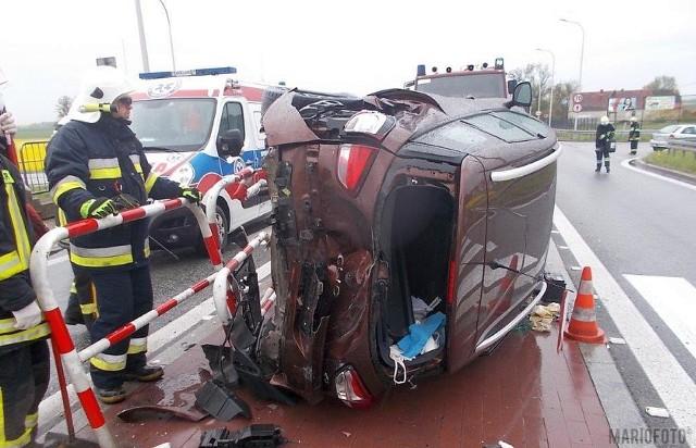 Wypadek w Pakosławicach.
