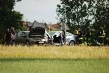 Poważny wypadek na drodze z Wrocławia do Strzelina. Kierowca zasłabł