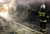 Ostrówki. Pożar domu jednorodzinnego. Strażacy gasili ogień przy mrozie -23°C (zdjęcia)
