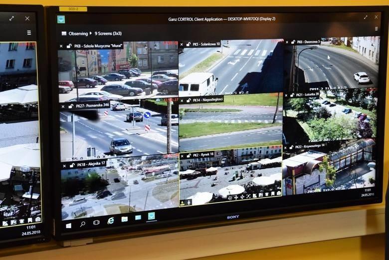 Aktualnie oko na Inowrocław ma 28 kamer miejskiego...