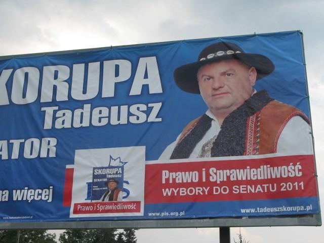 Sporne billboardy Tadeusza Skorupy