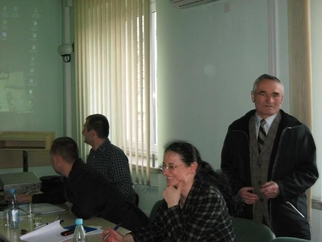 Spotkanie w magistracie zorganizowali radni Klubu Ratusz. Pierwsza z prawej radna Janina Lubera.