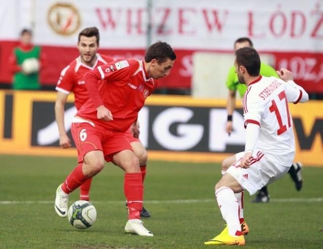 Piotr Mroziński trafił do siatki w wewnętrznej gierce widzewiaków