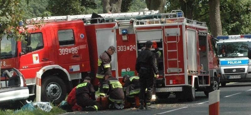 Jeden z wielu wypadków, gdzie interweniowali strażacy z Witnicy. Często pomagają oni zawodowcom, ale nierzadko zdarza się tak, że to właśnie ochotnicy są na miejscu pierwsi.