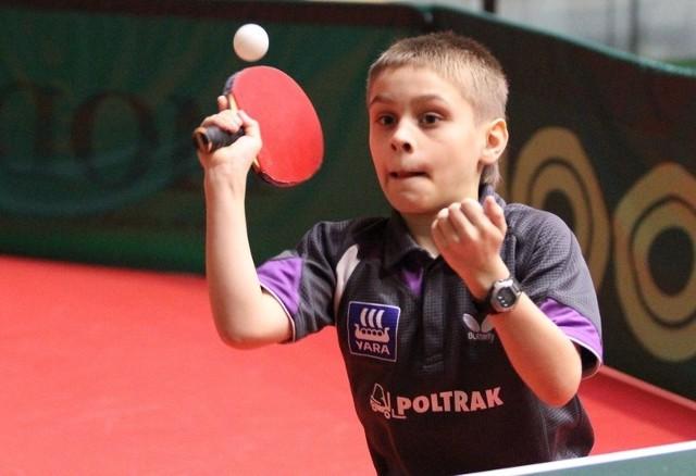 Samuel Kulczycki to największy talent w grupie najmłodszych zawodników Gorzovii. Zdolnych adeptów ping-ponga jest w klubie jeszcze kilku.