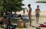 W Grudziądzu upał nie odpuszcza. Nawet na plaży szukamy miejsc zacienionych [zdjęcia]