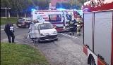 Groźny wypadek motocyklisty w Porębie. Kierowca auta uciekł z miejsca zdarzenia. Był pijany