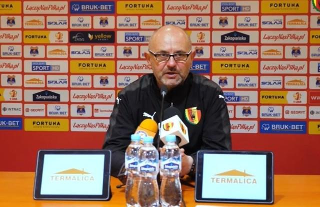 Trener Korony Kielce Dominik Nowak mógł być mocno zawiedziony postawą zespołu w meczu z Bruk-Betem Nieciecza.