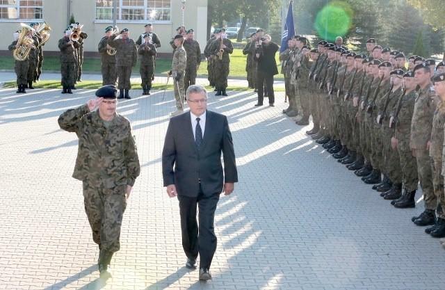 Prezydent Bronisław Komorowski odwiedził dziś kwaterę główną Eurokorpusu.