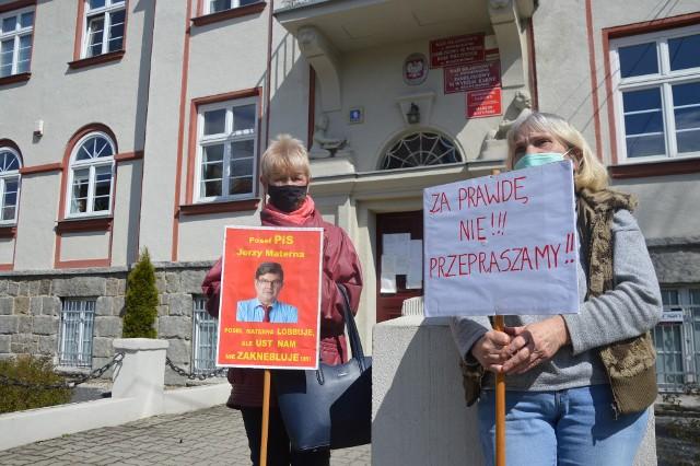 Protest przed sądem w Sulechowie