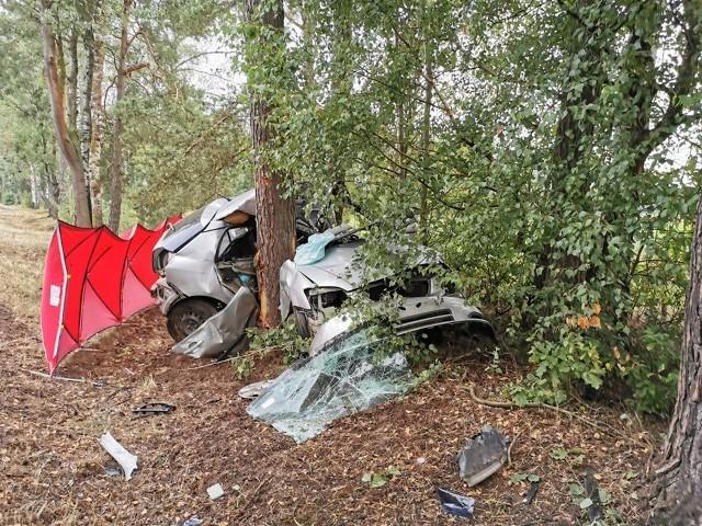 Śmiertelny wypadek na trasie Chorzele-Myszyniec. 08.08.2019