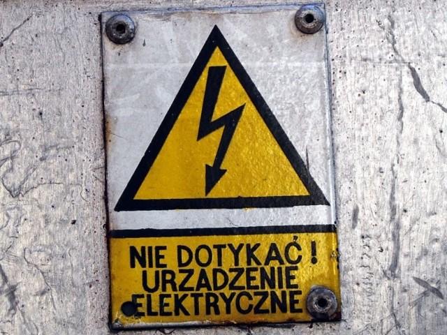 Przerwy w dopływie prądu wystąpią w poniedziałek