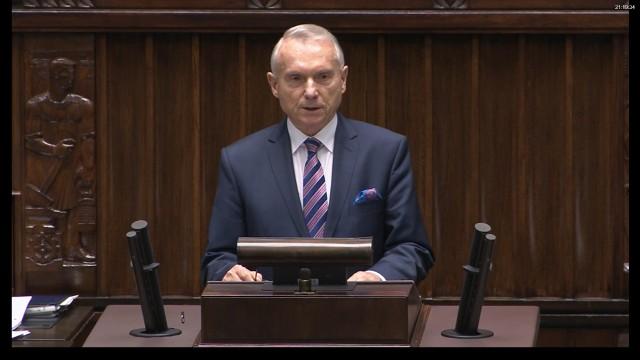 W Sejmie bydgoski projekt prezentował Zbigniew Pawłowicz
