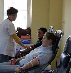 W remize działał punkt oddawania krwi.