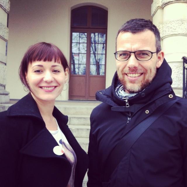 Maria Wojtyszko – autorka i Jakub Krofta – reżyser przedstawienia