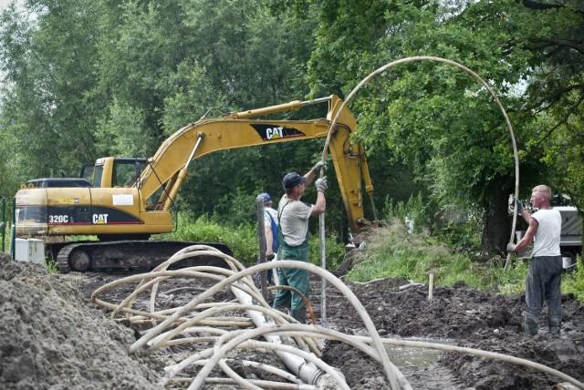 Budowa kanalizacji, zdjęcie ilustracyjne