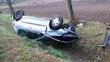Słupca: Groźny wypadek na DK92. Samochód dachował [ZDJĘCIA]