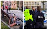Częstochowa: cudem uszli z życiem! Pirat drogowy wjechał w ławki na placu Orląt Lwowskich
