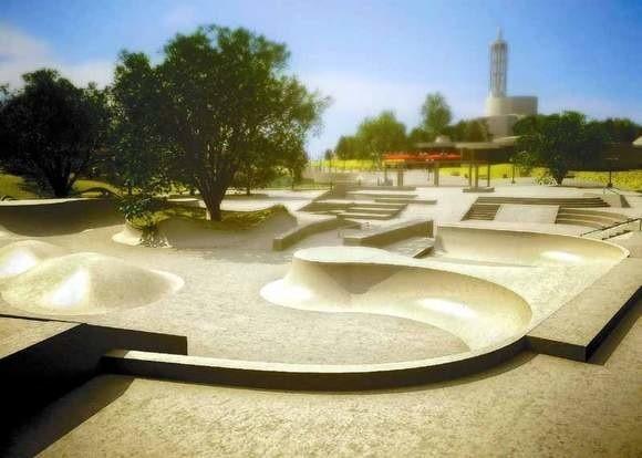 Skatepark to ciągle wizualizacja. Ale koniec budowy już blisko.