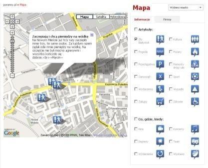 Mapę można zobaczyć w naszym nowym serwisie mapowym (z prawej strony portalu).