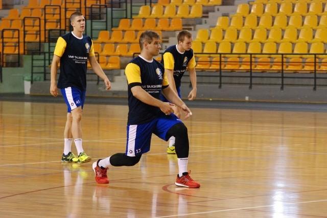 W poniedziałkowym treningu Vive Tauronu Kielce udział wziął między innymi obrotowy Julen Aginagalde.