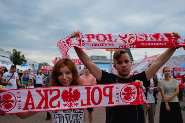 Mecz Polska - Japonia w poznańskiej strefie kibica