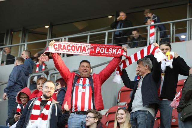 Kibice na meczu Cracovia - Korona Kielce