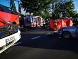 Śmiertelny wypadek w Nowym Tuchomiu między Gdynią a Żukowem 21.07.2020. Zderzenie samochodu z motocyklem. Nie żyje 26-letni motocyklista