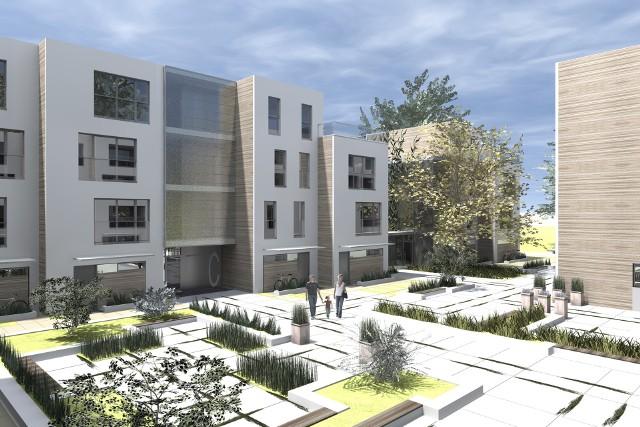 Wizualizacja ekskluzywnego osiedla w SzczecinieEkskluzywne osiedla i apartamenty powstają w Szczecinie