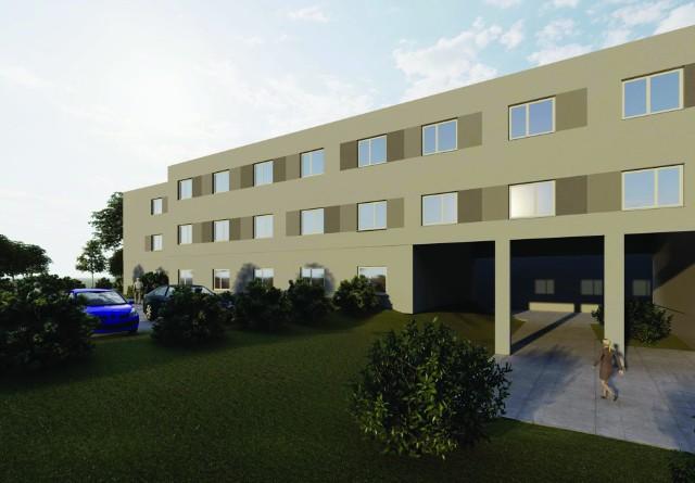 """Wizualizacja rozbudowanego ośrodka zdrowia w Wieliczce. Inwestycja ma zostać wykonana do końca 2021 roku. Przetarg """"wyszedł"""" za drogo, ale miasto zapewnia, że nie zrezygnuje z tego przedsięwzięcia"""