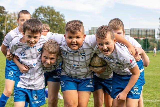 Młodzi rugbyści mieli przednią zabawę