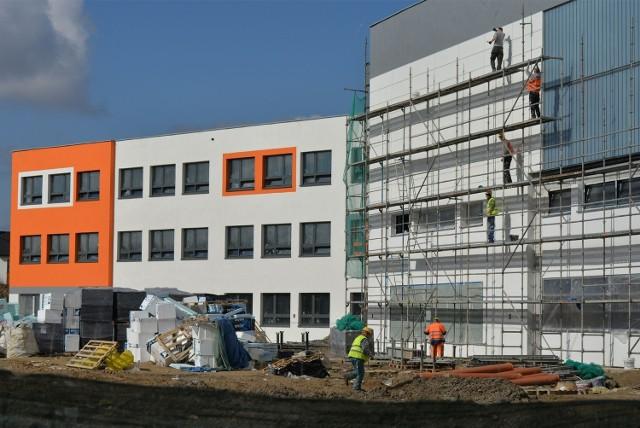 Budowa szkoły w Gdańsku Kokoszkach, marzec 2014