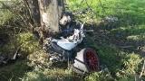 Śmiertelny wypadek na drodze Jasionówka - Czarnystok. Porsche uderzyło w drzewo (zdjęcia)